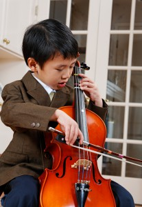 Boy cellist